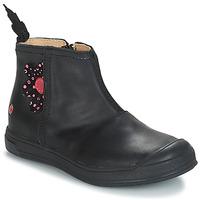 Topánky Dievčatá Čižmy do mesta GBB ROMANE Vte / Čierna