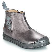 Topánky Dievčatá Polokozačky GBB ROMANE Fialová