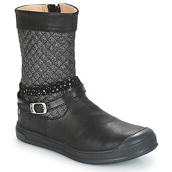 Topánky Dievčatá Čižmy do mesta GBB ROLANDE Čierna