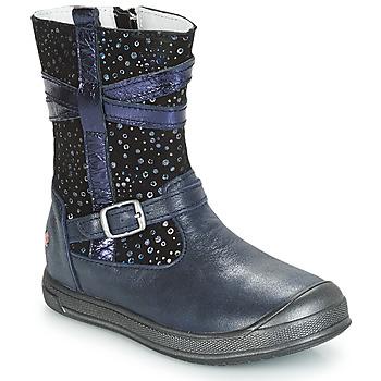 Topánky Dievčatá Polokozačky GBB NARCISSE Námornícka modrá