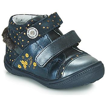 Topánky Dievčatá Polokozačky Catimini ROSSIGNOL Námornícka modrá / Zlatá