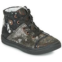 Topánky Dievčatá Členkové tenisky Catimini ROUSSEROLLE Čierna / Zlatá