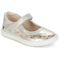 Topánky Dievčatá Balerínky a babies GBB PLACIDA Béžová / Strieborná