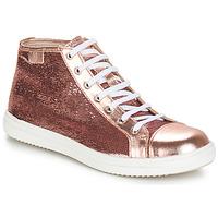 Topánky Dievčatá Polokozačky GBB IMELDA Ružová-zlatá