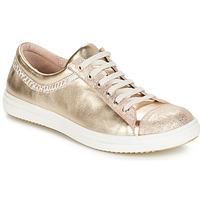 Topánky Dievčatá Polokozačky GBB GINA Vte / Béžovo-zlatá