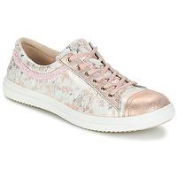 Topánky Dievčatá Polokozačky GBB GINA Ružová