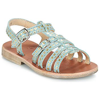 Topánky Dievčatá Sandále GBB BANGKOK Zelená / Zlatá