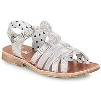 Topánky Dievčatá Sandále Catimini SAULE Strieborná / Ružová