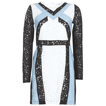 Oblečenie Ženy Krátke šaty Morgan RLIXI Biela / Čierna / Modrá