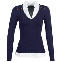 Oblečenie Ženy Svetre Morgan MYLORD Námornícka modrá / Biela