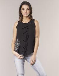 Oblečenie Ženy Tielka a tričká bez rukávov Desigual POALDAOR Čierna