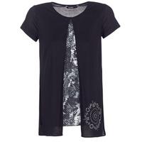 Oblečenie Ženy Tričká s krátkym rukávom Desigual NUTILAD Čierna