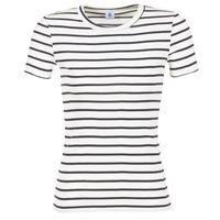 Oblečenie Ženy Tričká s krátkym rukávom Petit Bateau  Biela / Námornícka modrá