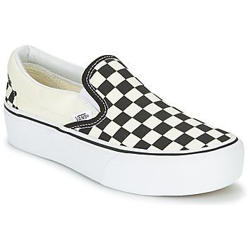 Topánky Ženy Slip-on Vans SLIP-ON PLATFORM Čierna / Biela