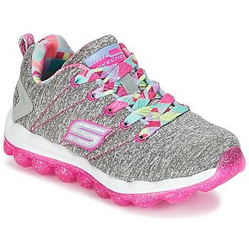 Topánky Dievčatá Nízke tenisky Skechers SKECH-AIR Šedá / Ružová