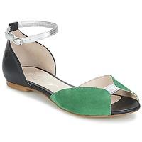 Topánky Ženy Sandále Betty London INALI Čierna / Strieborná / Zelená