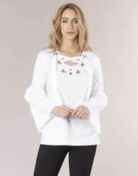Oblečenie Ženy Blúzky MICHAEL Michael Kors POPLIN GRMT LCE UP T. Biela
