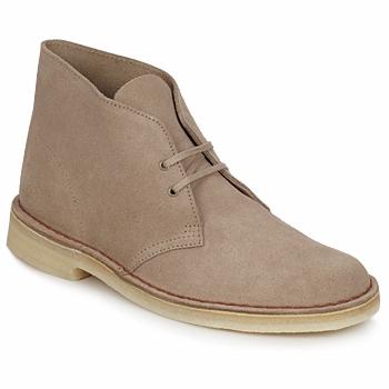 Topánky Muži Polokozačky Clarks DESERT BOOT Piesková