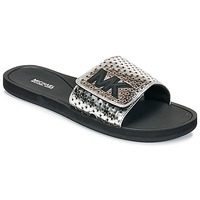 Topánky Ženy športové šľapky MICHAEL Michael Kors MK SLIDE Čierna / Strieborná
