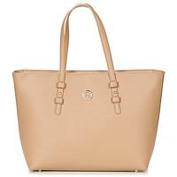Tašky Ženy Veľké nákupné tašky  Tommy Hilfiger TH SIGNATURE STRAP TOTE Béžová
