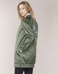 Oblečenie Ženy Bundy  Tommy Hilfiger MABEL-LONG-BOMBER Kaki