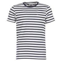 Oblečenie Muži Tričká s krátkym rukávom Tommy Jeans TJM REG STRIPE CN KNIT S/S15 Námornícka modrá / Šedá / Frkaná