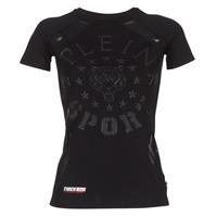 Oblečenie Ženy Tričká s krátkym rukávom Philipp Plein Sport FORMA LINEA Čierna