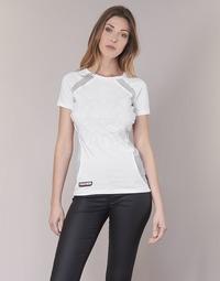 Oblečenie Ženy Tričká s krátkym rukávom Philipp Plein Sport FORMA LINEA Biela / Biela