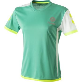 Oblečenie Ženy Tričká s krátkym rukávom Hummel Maillot Femme  Trophy vert/blanc