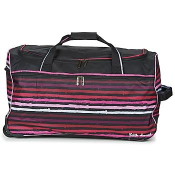 Tašky Cestovné tašky Little Marcel VANIA Čierna / Ružová