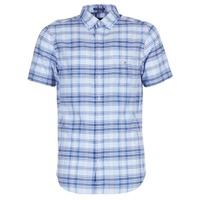 Oblečenie Muži Košele s krátkym rukávom Gant BLUE PACK MADRAS REG Modrá