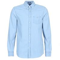 Oblečenie Muži Košele s dlhým rukávom Gant THE INDIGO REG Modrá