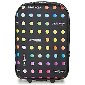 Tašky Pružné cestovné kufre David Jones PICOLO 35L Čierna / Viacfarebná