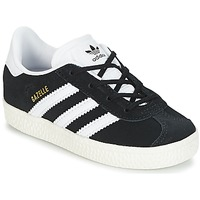 Topánky Deti Nízke tenisky adidas Originals GAZELLE I Čierna / Biela