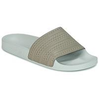 Topánky športové šľapky adidas Originals ADILETTE Béžová / Zelená