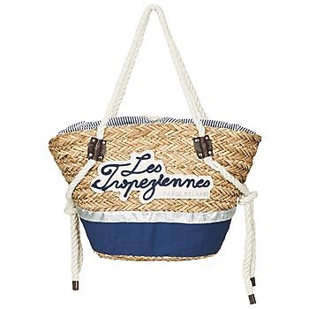 Tašky Ženy Veľké nákupné tašky  Les Tropéziennes par M Belarbi AUDENGE Béžová / Námornícka modrá