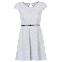 Oblečenie Ženy Krátke šaty Moony Mood IKIMI Biela / Námornícka modrá