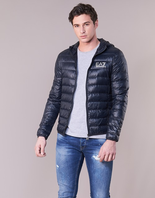 Oblečenie Muži Vyteplené bundy Emporio Armani EA7 CORE ID 8NPB02 Námornícka modrá