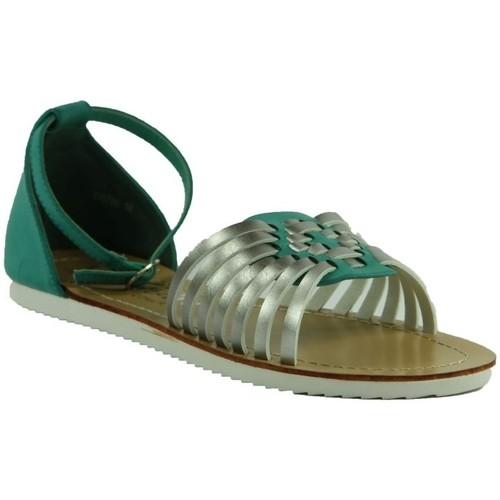 Topánky Ženy Sandále Comer TYRKYSOVÉ NÍZKE SANDÁLE  DQ780 zelená