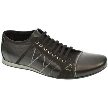 Topánky Muži Derbie Basso Lavagio PÁNSKE ČIERNE POLTOPÁNKY ALON čierna