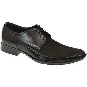 Topánky Muži Richelieu Basso Lavagio PÁNSKE ČIERNE KOMBINOVANÉ POLTOPÁNKY MILES čierna
