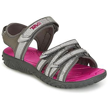 Topánky Dievčatá Športové sandále Teva TIRRA Strieborná / Magenta