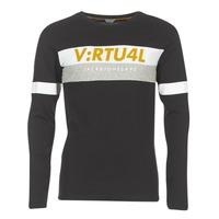 Oblečenie Muži Tričká s dlhým rukávom Jack & Jones JCOACE-TEE-LS-CREW-NECK Čierna