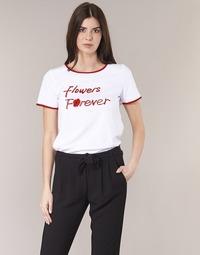 Oblečenie Ženy Tričká s krátkym rukávom Betty London INNATIMBI Biela / Červená