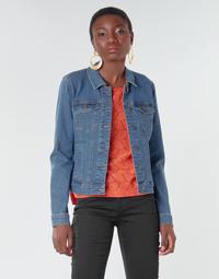 Oblečenie Ženy Džínsové bundy Vero Moda VMHOT SOYA Modrá / Medium