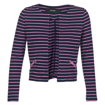 Oblečenie Ženy Saká a blejzre Vero Moda VMULA Námornícka modrá / Ružová