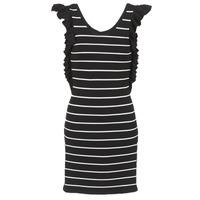 Oblečenie Ženy Krátke šaty Vero Moda VMABHY Čierna / Biela