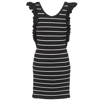 611aa94fcd0c Oblečenie Ženy Krátke šaty Vero Moda VMABHY Čierna   Biela