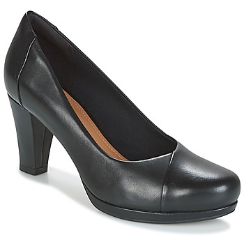 Topánky Ženy Lodičky Clarks CHORUS CAROL Čierna / Leather