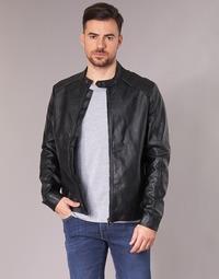 Oblečenie Muži Kožené bundy a syntetické bundy Yurban IMIMID Čierna